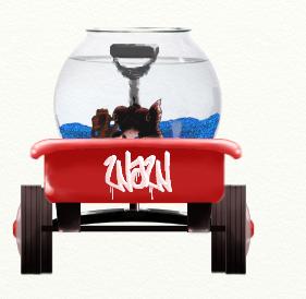 Wagon and fish